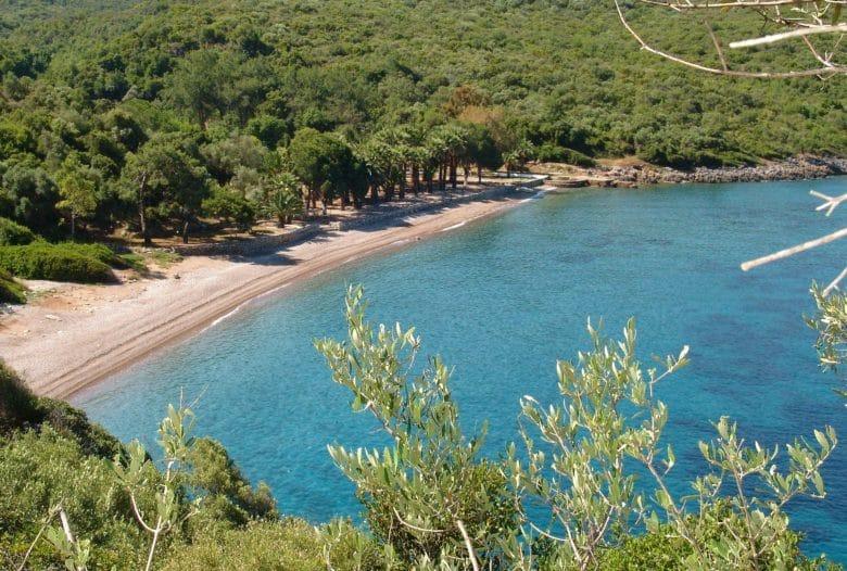 Пляж в курортном поселке Датча, Турция